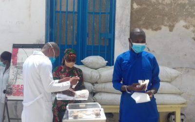 report of the moringa donation to the healthcenters.